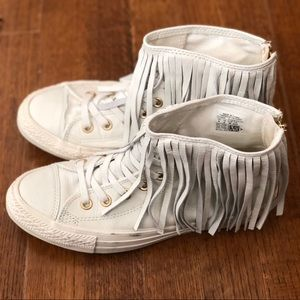 Converse Fringe Leather High-Tops